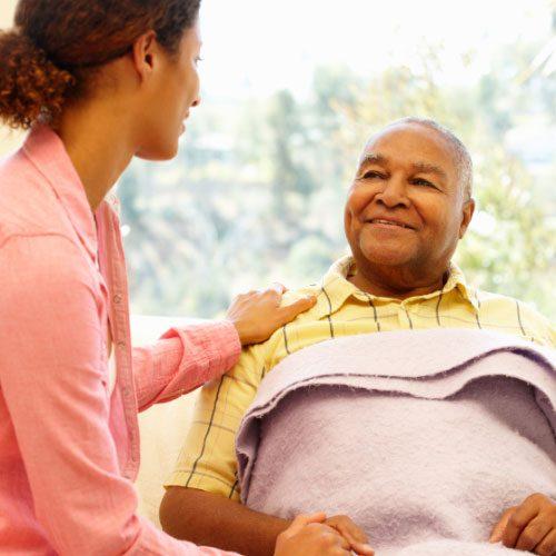 Elderly Man in Nursing Care