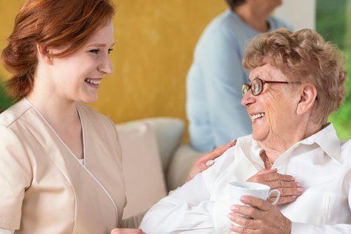 Care Services Nurse and Patient