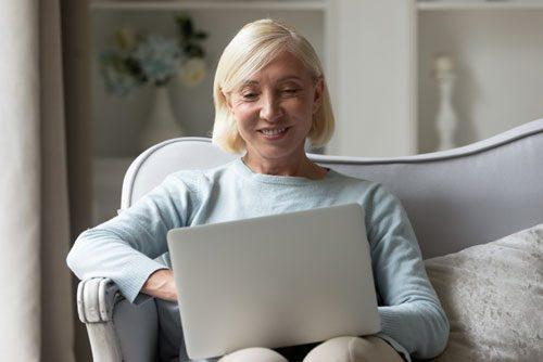Lady at laptop